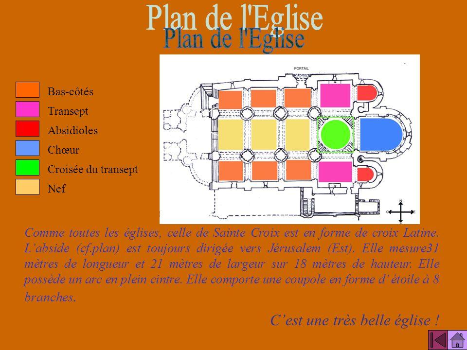 Plan de l Eglise C'est une très belle église !