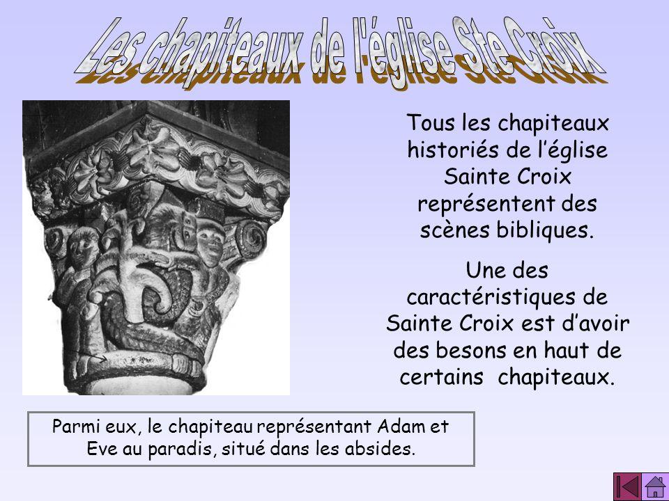 Les chapiteaux de l église Ste Croix