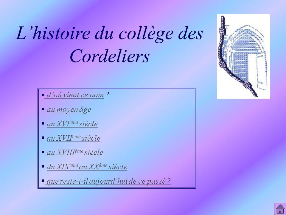 L'histoire du collège des Cordeliers