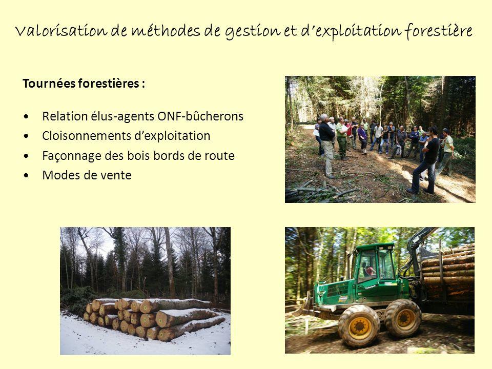 Valorisation de méthodes de gestion et d'exploitation forestière