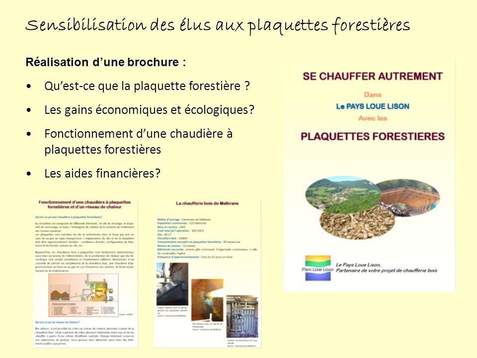 Sensibilisation des élus aux plaquettes forestières