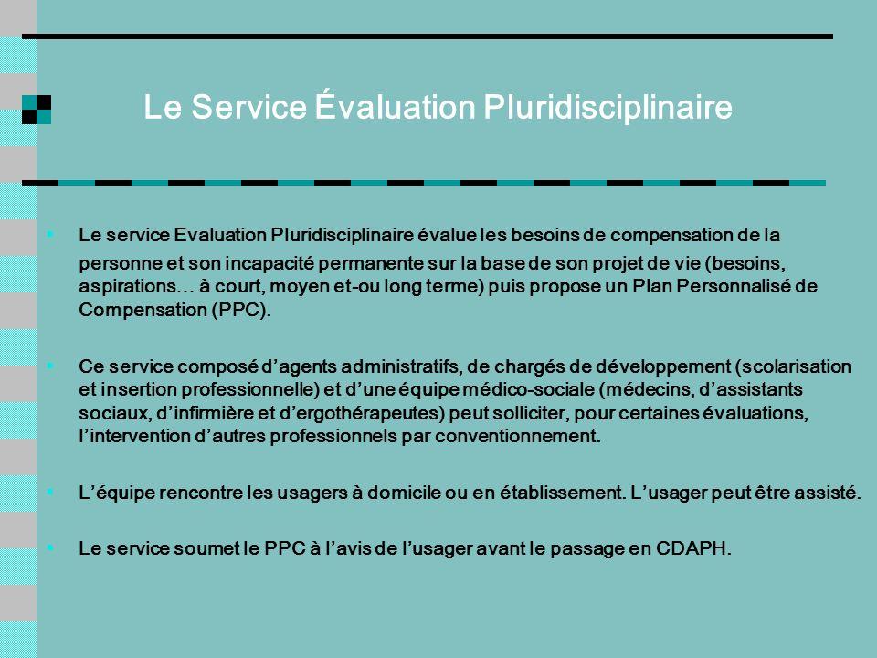 Le Service Évaluation Pluridisciplinaire