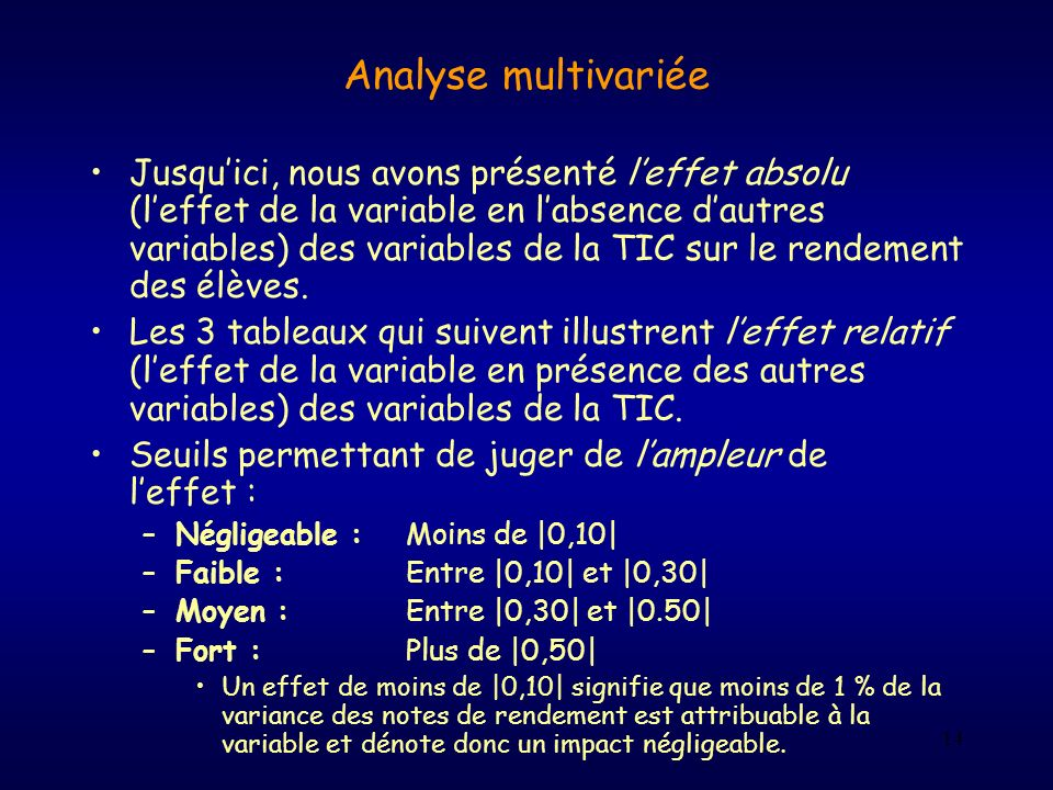 Analyse multivariée