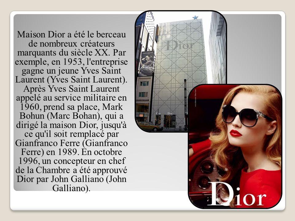 Maison Dior a été le berceau de nombreux créateurs marquants du siècle XX.