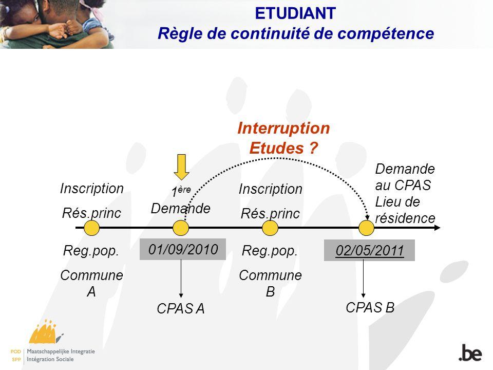 ETUDIANT Règle de continuité de compétence