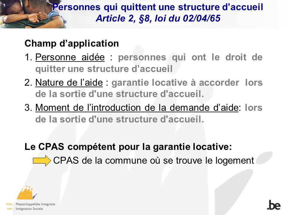 Le CPAS compétent pour la garantie locative: