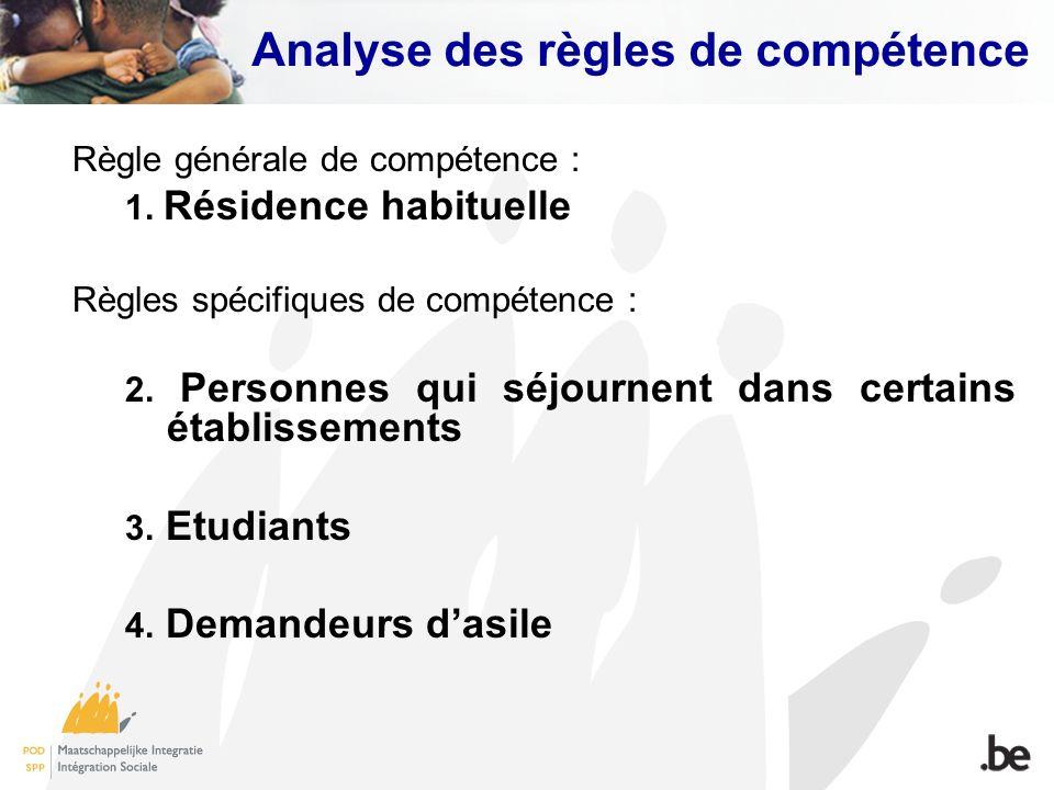 Analyse des règles de compétence