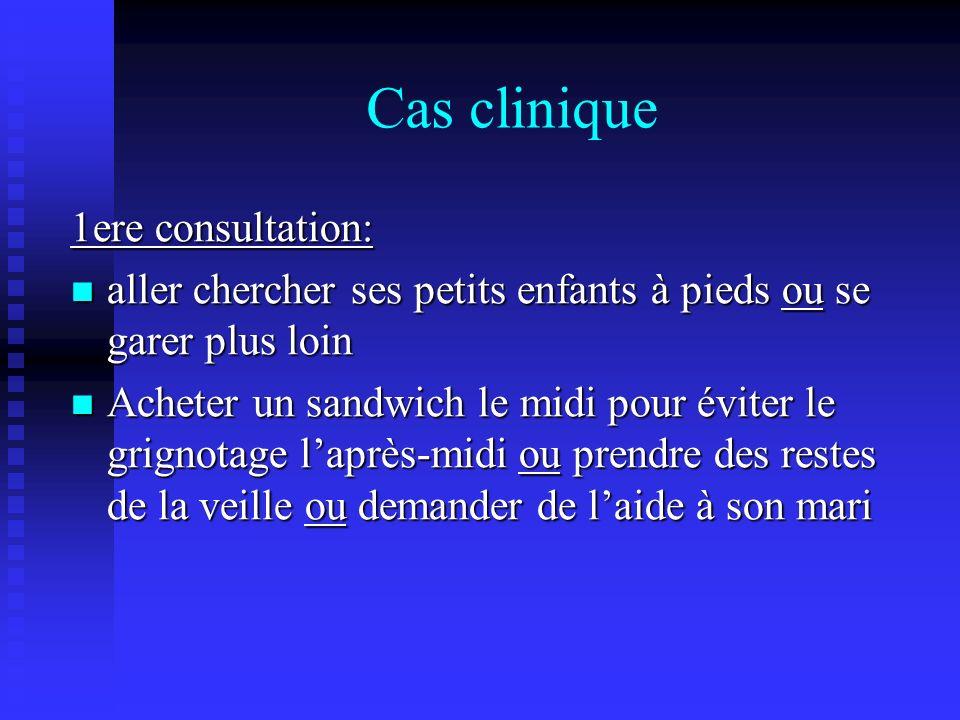 Cas clinique 1ere consultation: