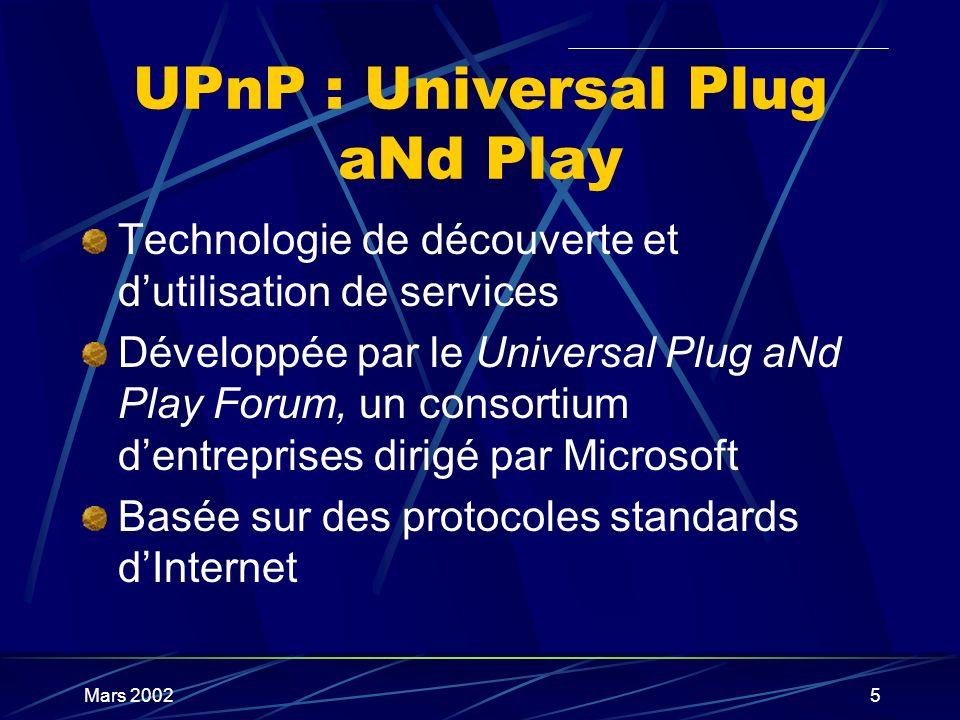 UPnP : Universal Plug aNd Play