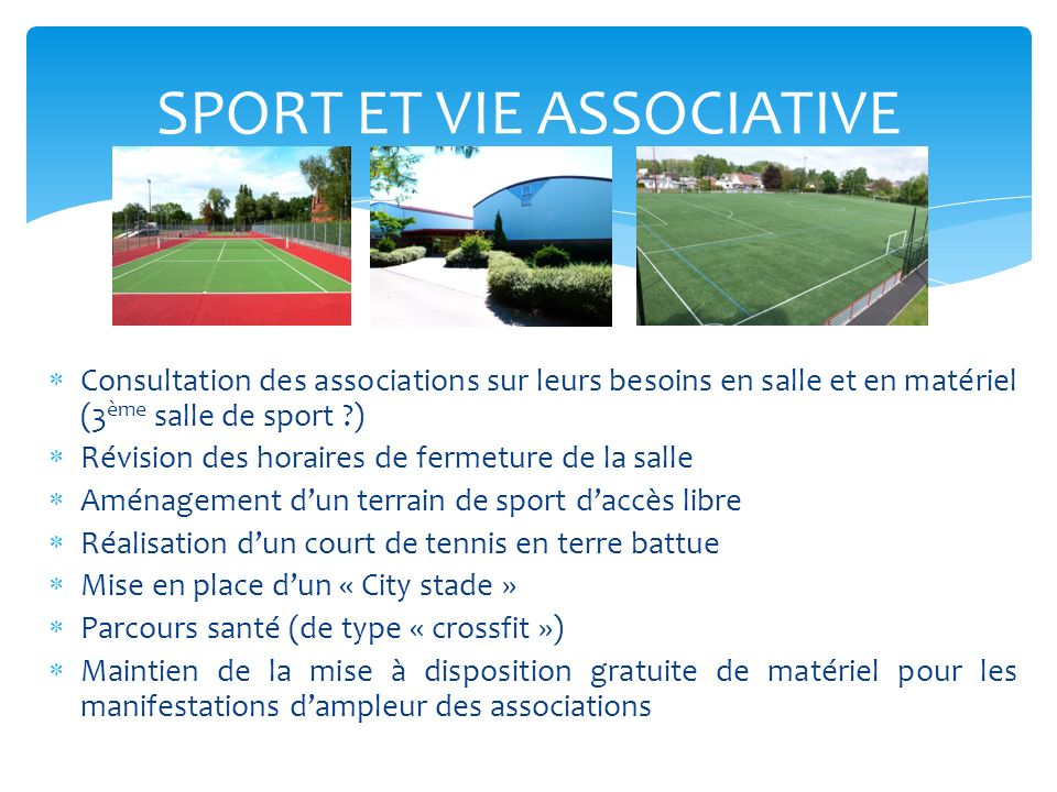 SPORT ET VIE ASSOCIATIVE