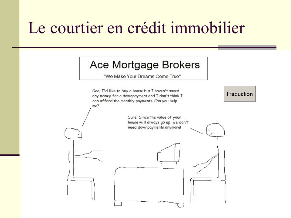 Le courtier en crédit immobilier