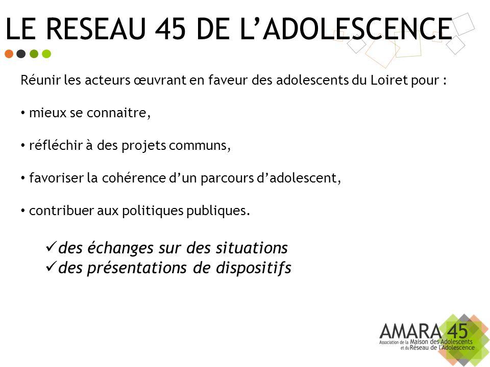 LE RESEAU 45 DE L'ADOLESCENCE