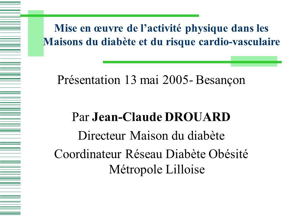 Présentation 13 mai 2005- Besançon Par Jean-Claude DROUARD