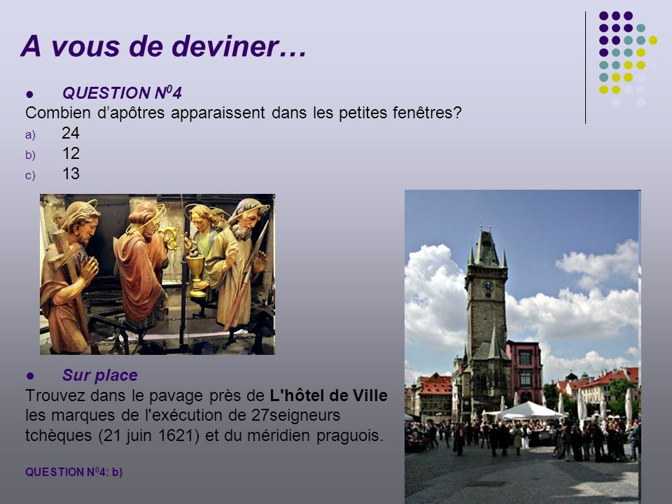 A vous de deviner… QUESTION N04