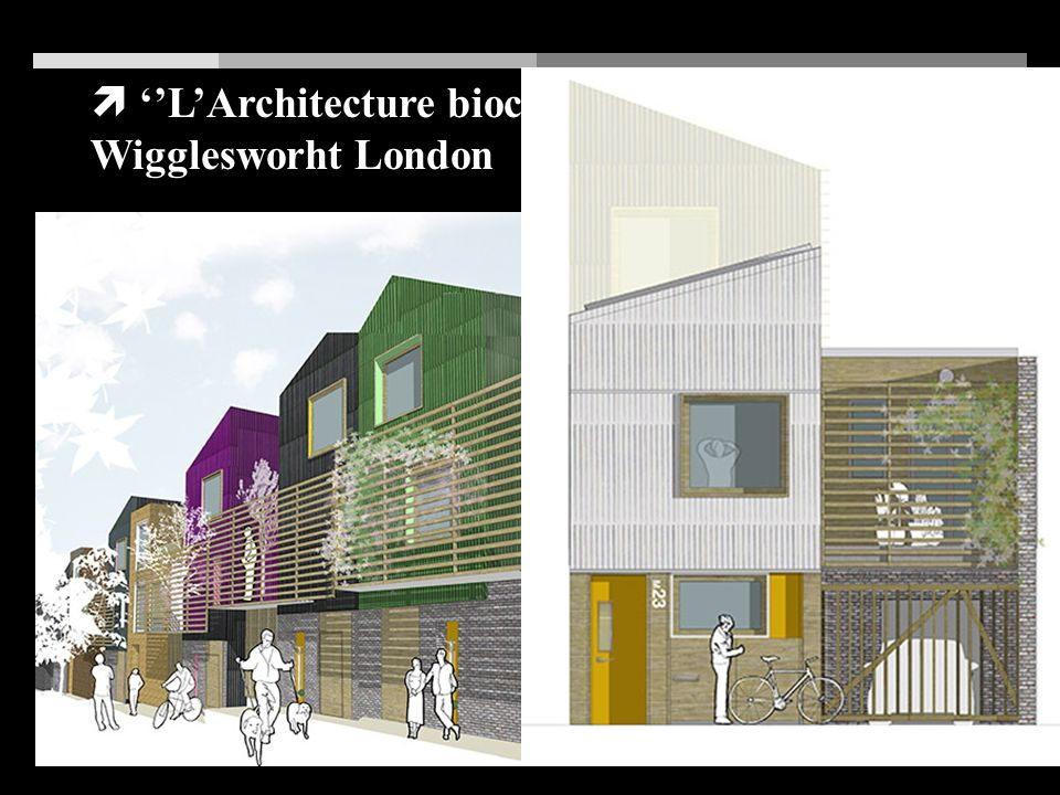 ''L'Architecture bioclimatique'': SARAH Wigglesworht London