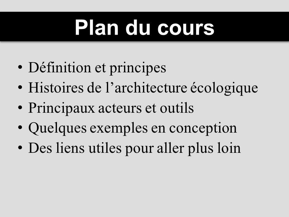 Plan du cours Définition et principes