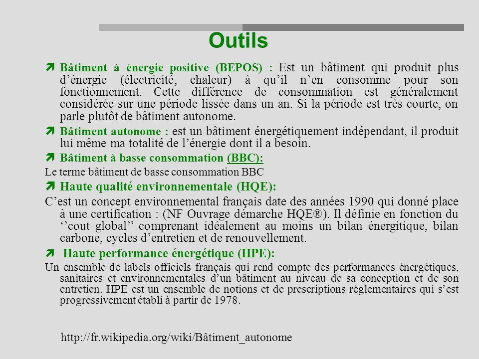 Outils Haute qualité environnementale (HQE):