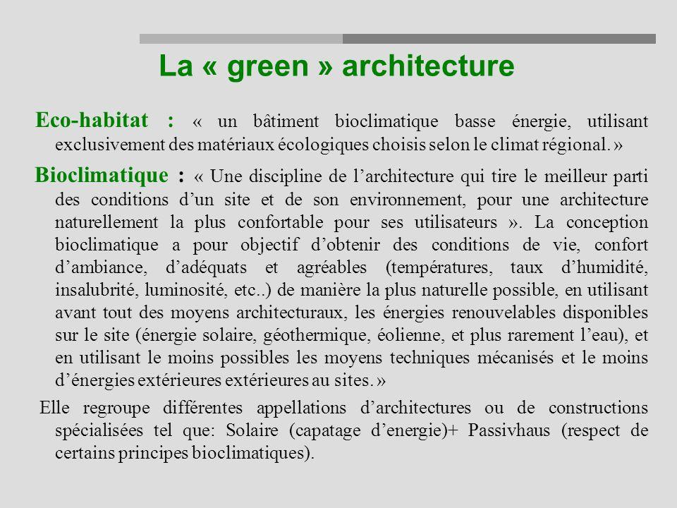 La « green » architecture