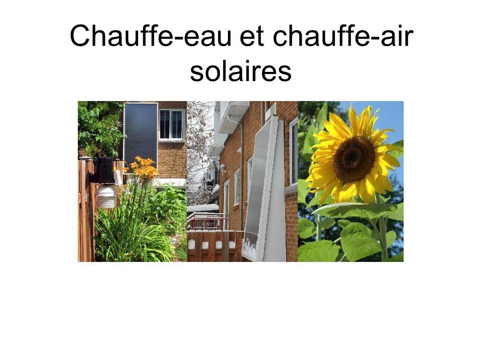 Chauffe-eau et chauffe-air solaires