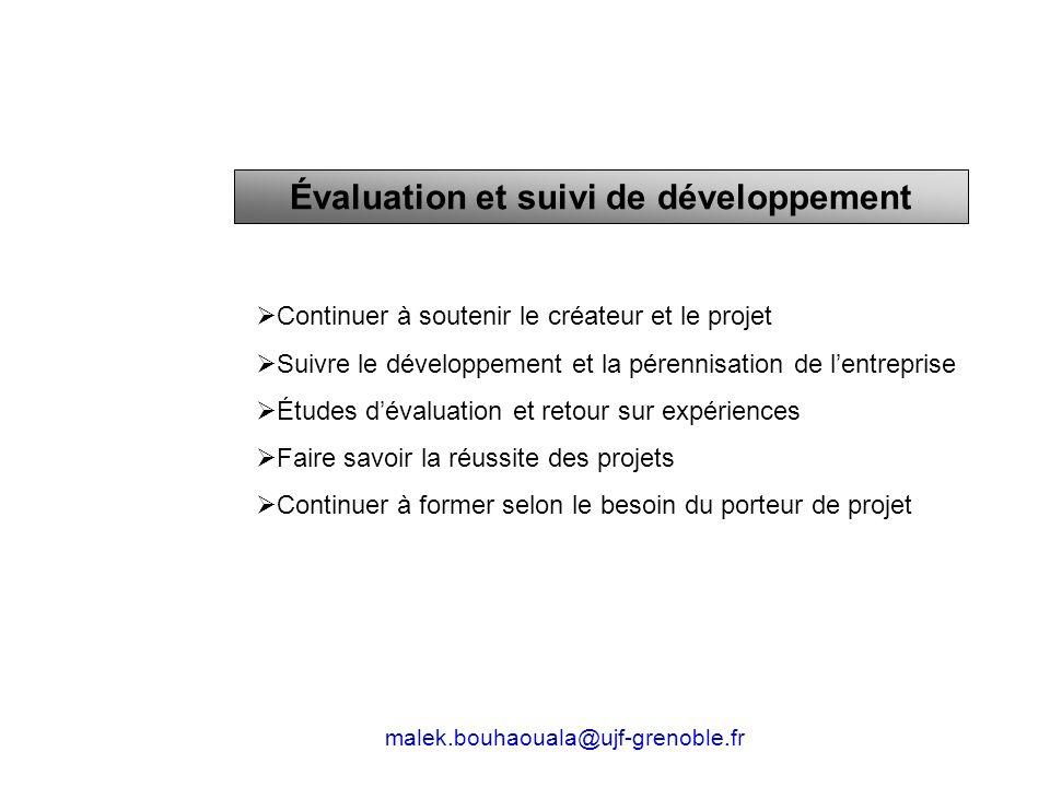 Évaluation et suivi de développement