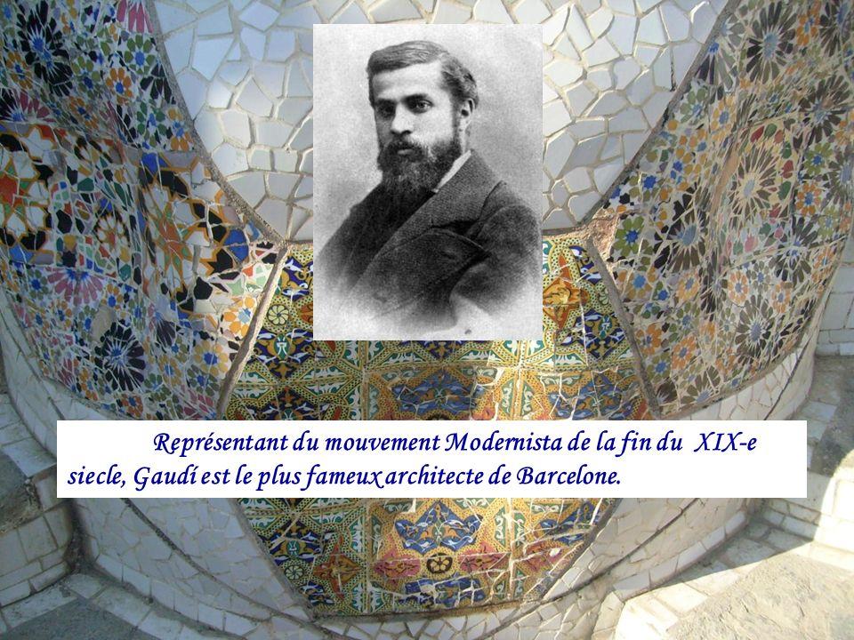 Représentant du mouvement Modernista de la fin du XIX-e siecle, Gaudí est le plus fameux architecte de Barcelone.