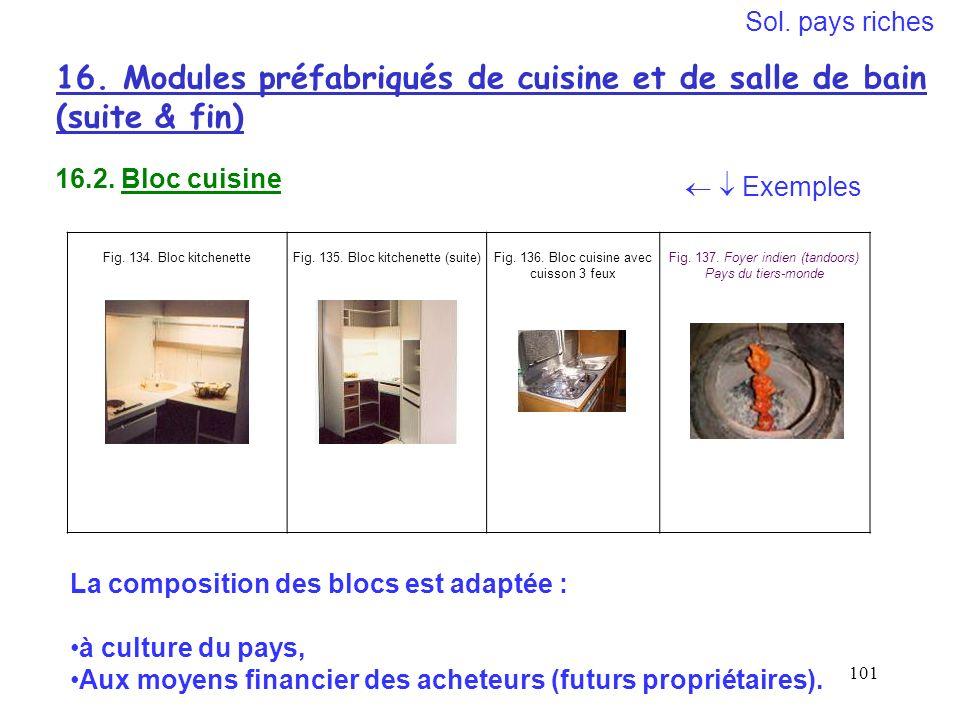16. Modules préfabriqués de cuisine et de salle de bain (suite & fin)