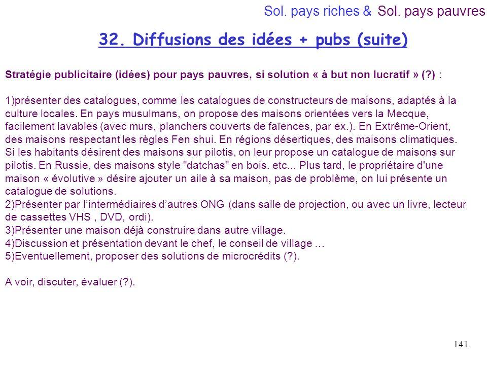 32. Diffusions des idées + pubs (suite)