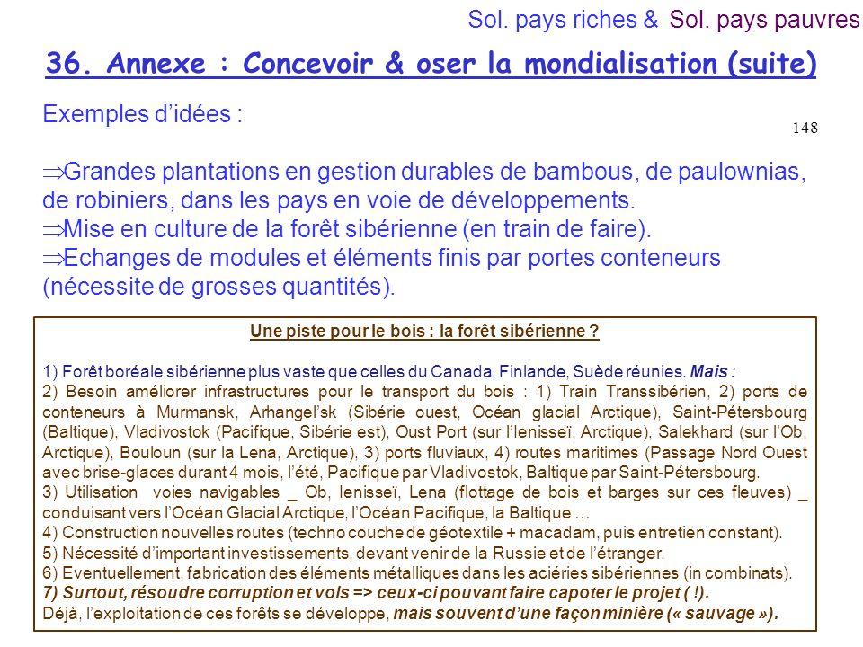 36. Annexe : Concevoir & oser la mondialisation (suite)