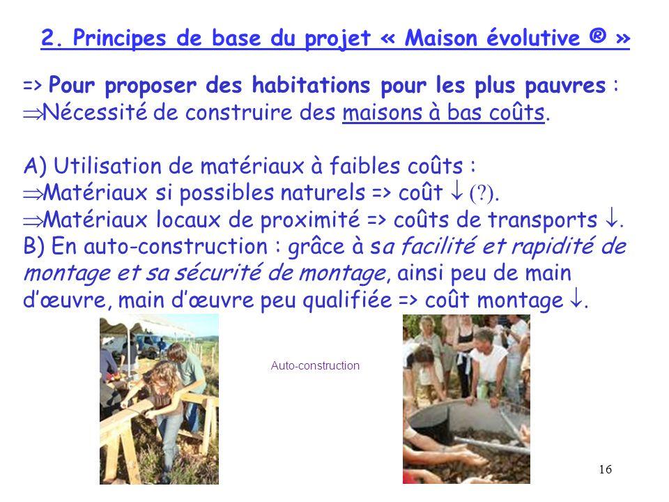 2. Principes de base du projet « Maison évolutive ® »