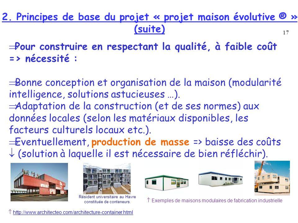 2. Principes de base du projet « projet maison évolutive ® »