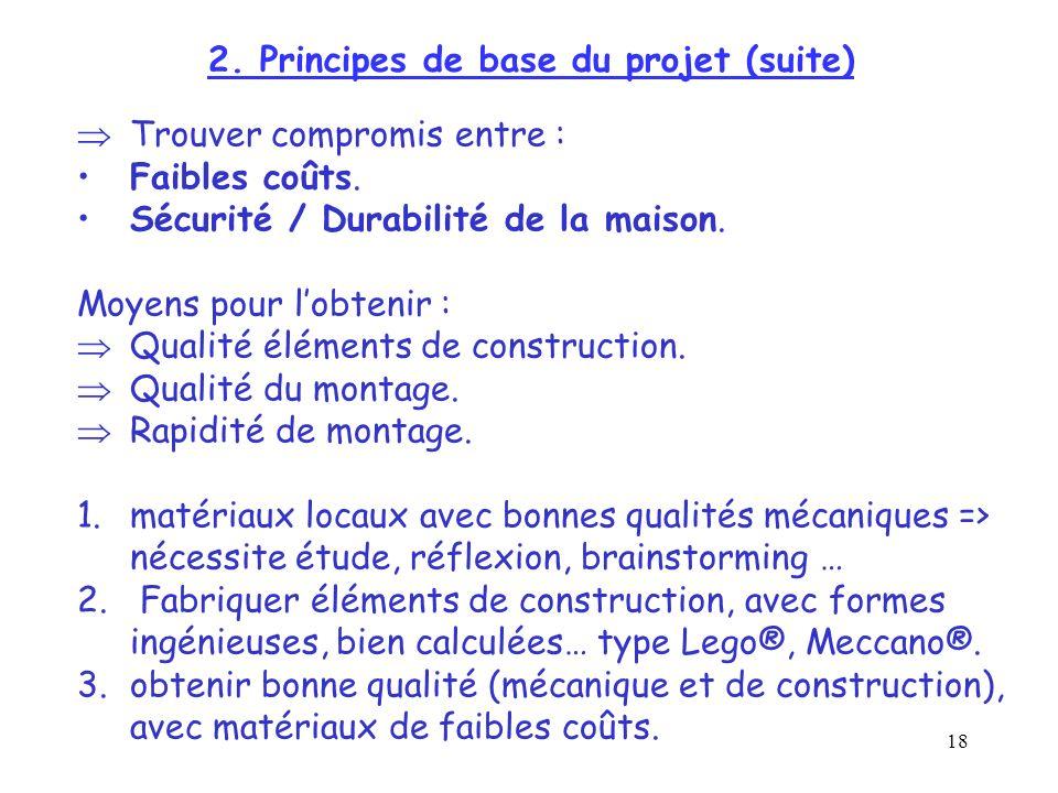 2. Principes de base du projet (suite)