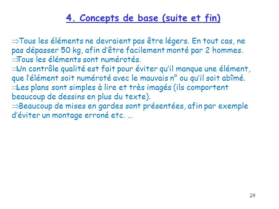 4. Concepts de base (suite et fin)