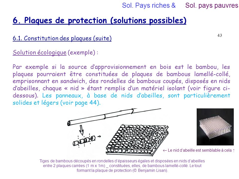 6. Plaques de protection (solutions possibles)