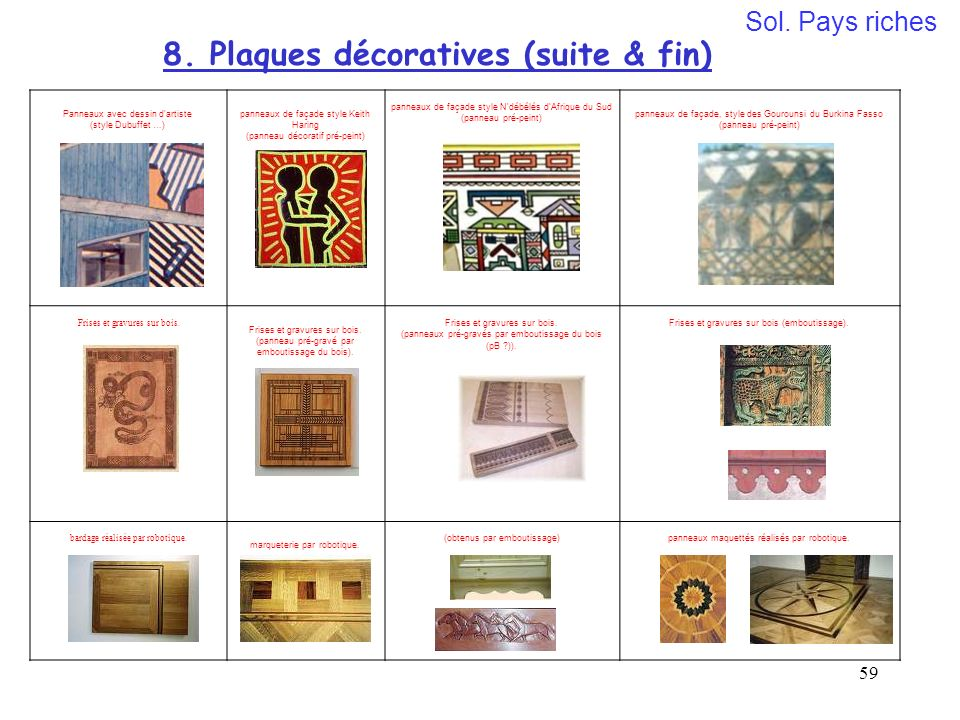 8. Plaques décoratives (suite & fin)