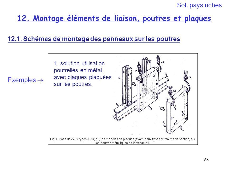 12. Montage éléments de liaison, poutres et plaques