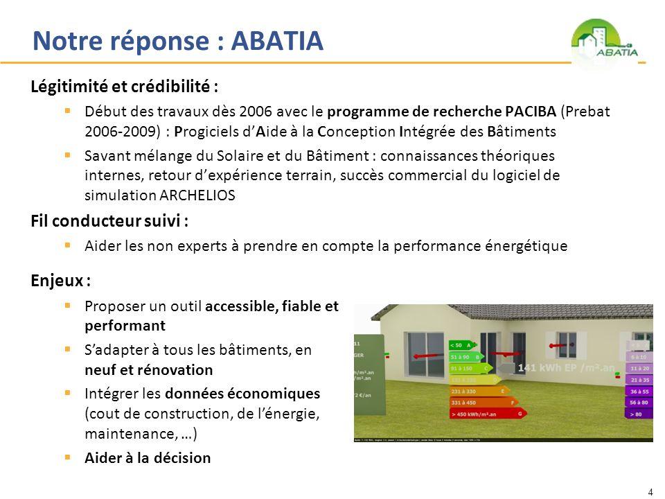 Notre réponse : ABATIA Légitimité et crédibilité :