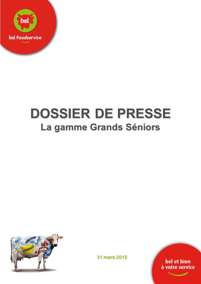 DOSSIER DE PRESSE La gamme Grands Séniors