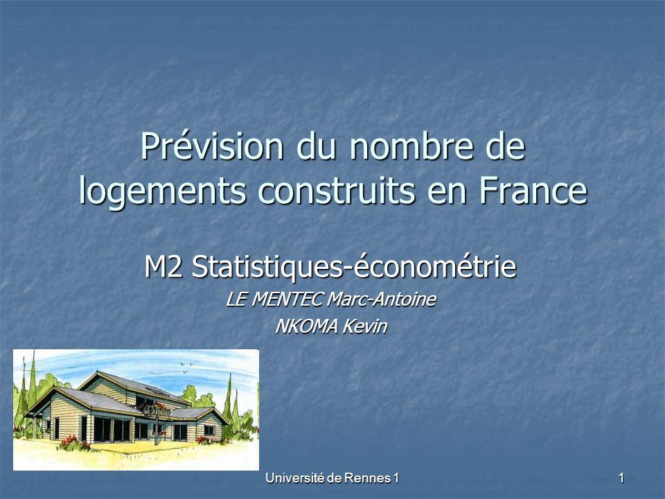 Prévision du nombre de logements construits en France