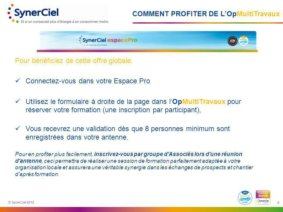 COMMENT PROFITER DE L'OpMultiTravaux