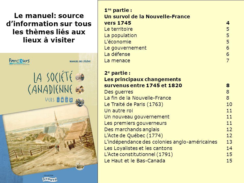 1re partie : Un survol de la Nouvelle-France vers 1745 4. Le territoire 5. La population 5.