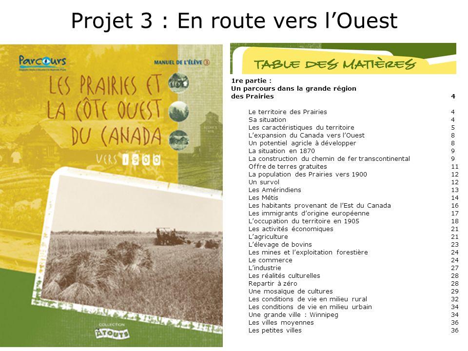 Projet 3 : En route vers l'Ouest