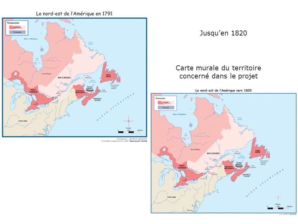 Carte murale du territoire concerné dans le projet