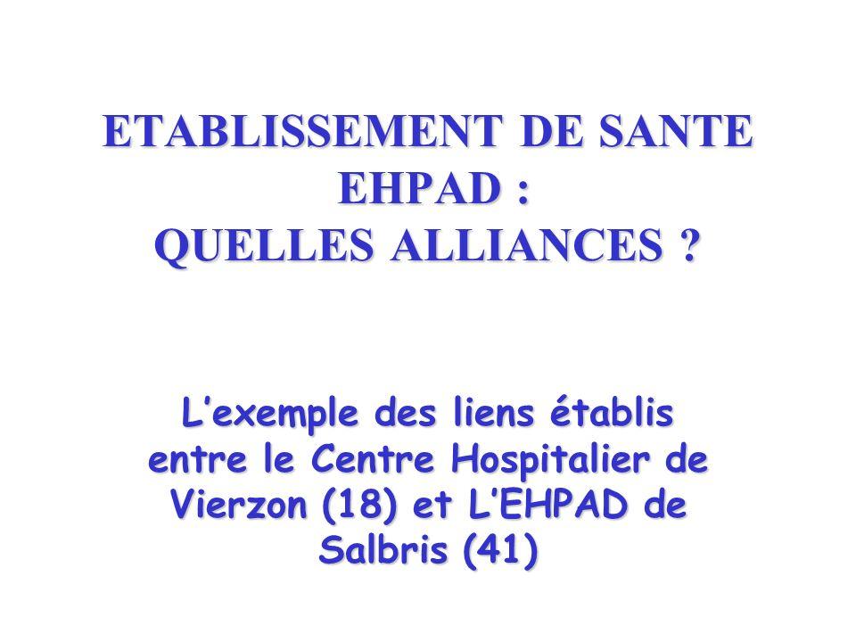 ETABLISSEMENT DE SANTE EHPAD : QUELLES ALLIANCES