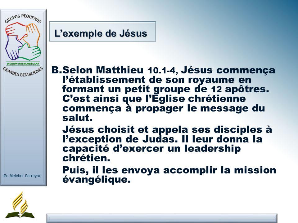 L'exemple de Jésus