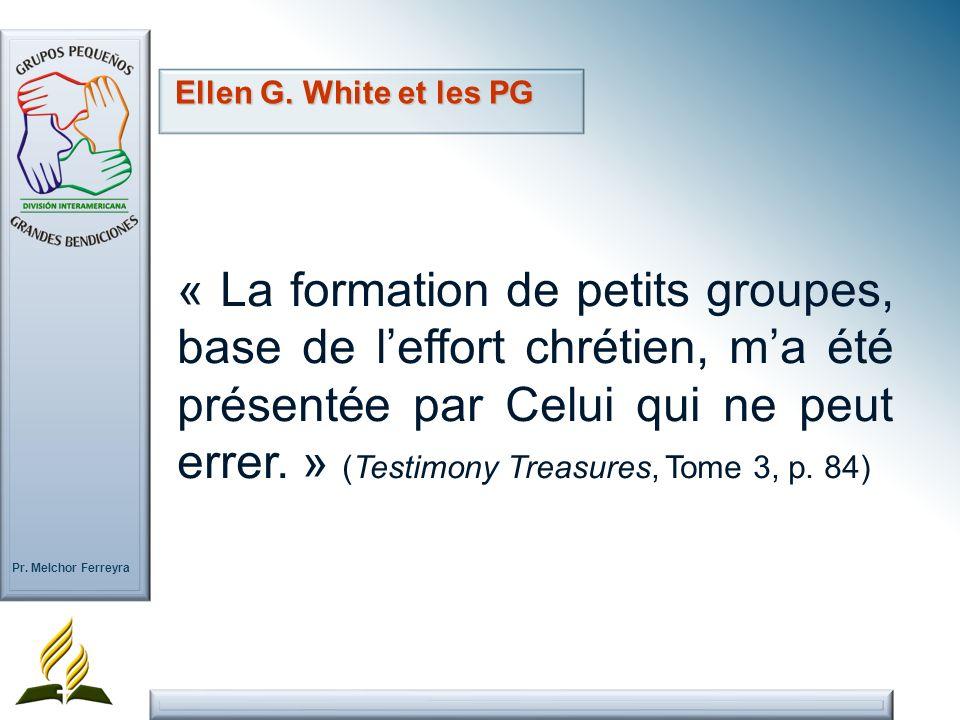 Ellen G. White et les PG