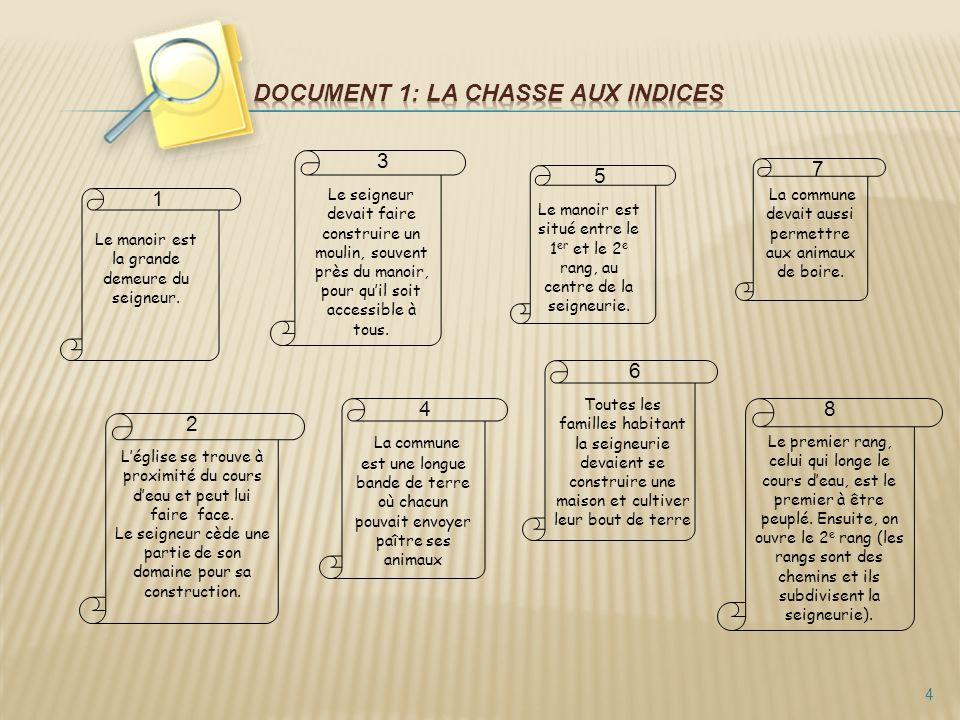 Document 1: La chasse aux indices