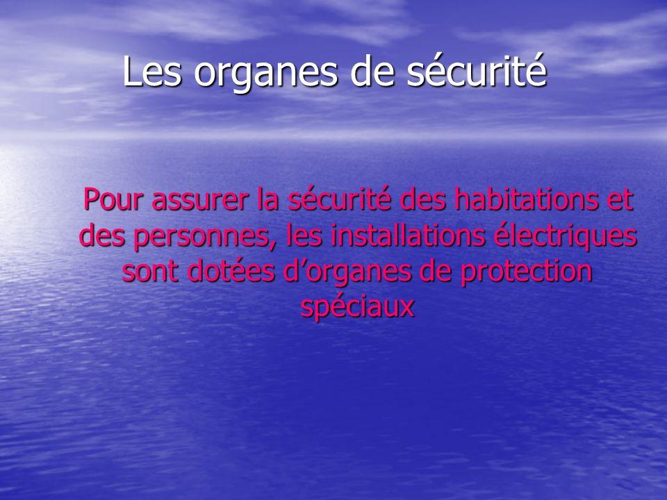 Les organes de sécurité