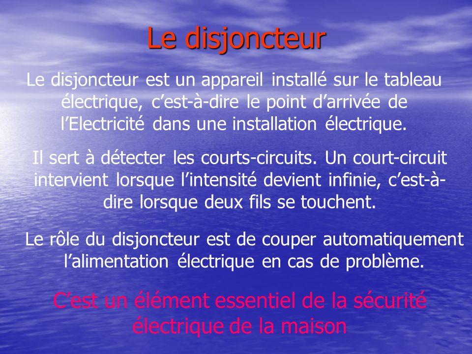 C'est un élément essentiel de la sécurité électrique de la maison