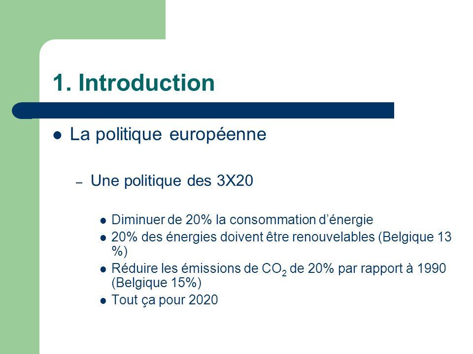 1. Introduction La politique européenne Une politique des 3X20