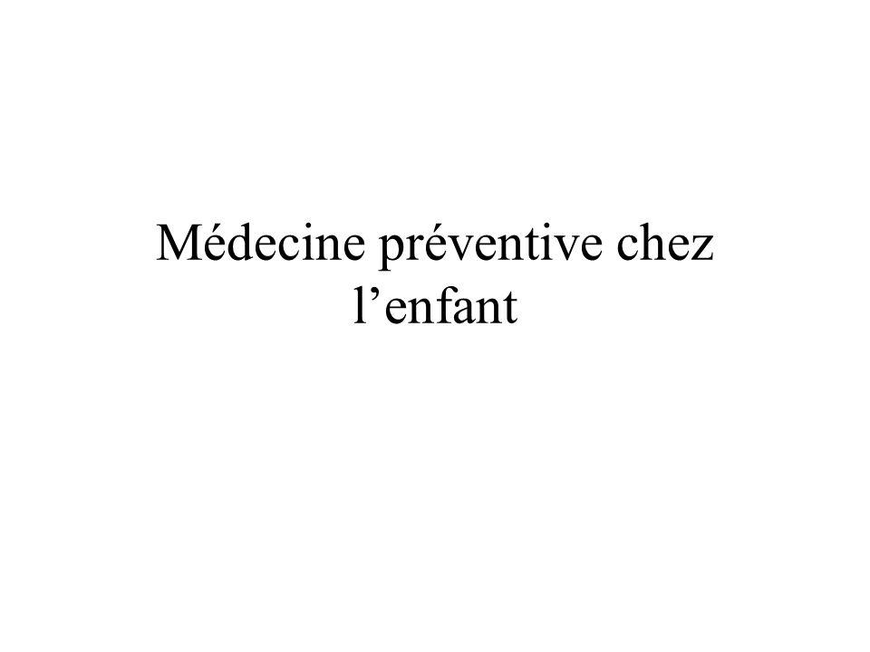 Médecine préventive chez l'enfant